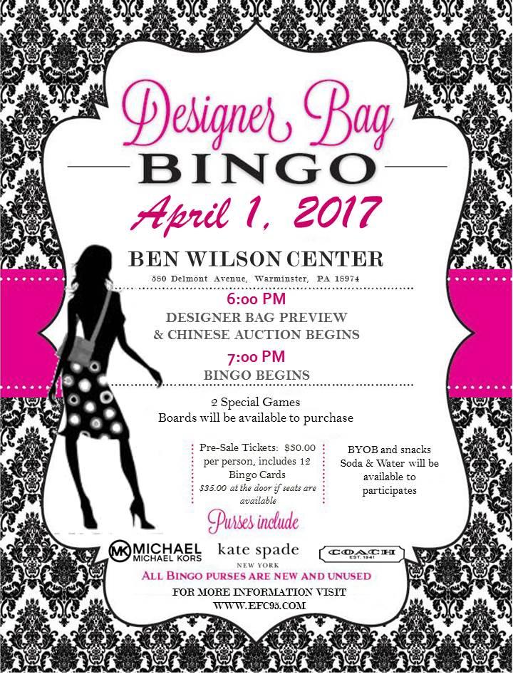Designer Bag Bingo – Get Your Tickets Now