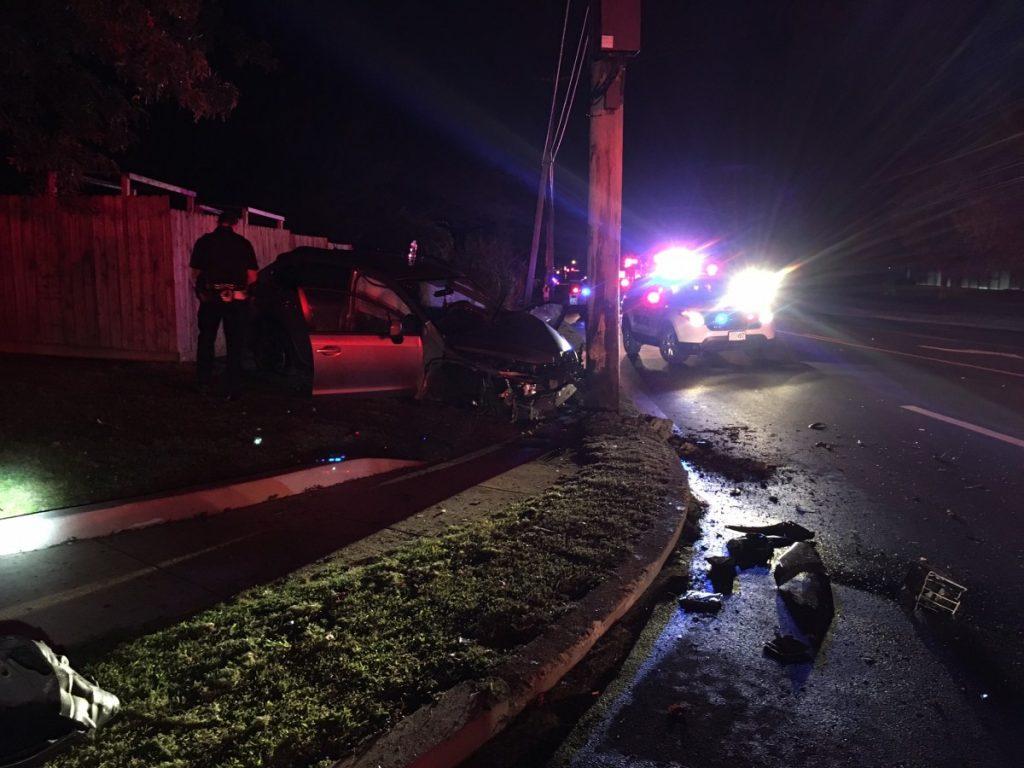 Countyline Rd. Vehicle vs. Pole – 8/28/17